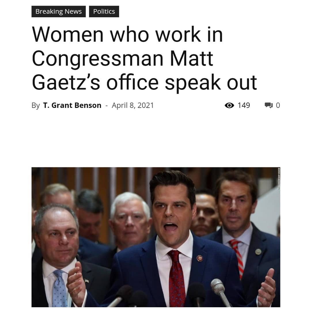 """""""After the shocking allegations last week in the press, we, the women of Congres"""