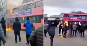 Public Bus Torched With Petrol Bomb Amid Ongoing Northern Ireland Protests