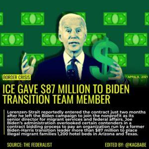 Joe Biden's administration overlooked certain contenders in a contract bidding p
