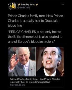 It's Prince Charles in the clip dabbing on Pence*
