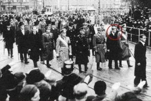 Prince Phillip at his sisters funeral in Nazi Germany, 1937.