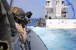 MT @MARSOCofficial: Amphibious Force  Marine Raiders are trained to conduct vis