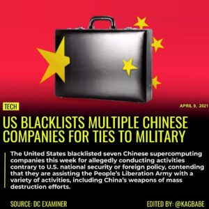 The United States blacklisted seven Chinese supercomputing companies this week f