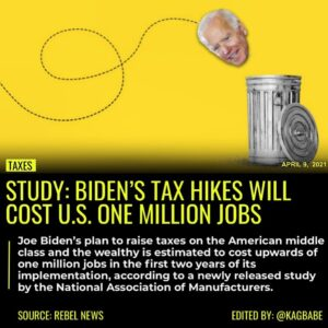 Joe Biden's plan to raise taxes on the American middle class and the wealthy is