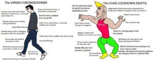 The Virgin Coronadoomer vs The Chad Lockdown Skeptic
