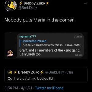 Last post about this shit. Nobody doxxed her. Nobody is harassing her. Despite h