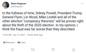 """Read more about the article In the fullness of time, all of the other election """"conspiracy theorists"""" will be proven right about the theft of the 2020 election."""
