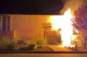 Read more about the article Far Left Terrorists Light Portland Police Union Building On Fire