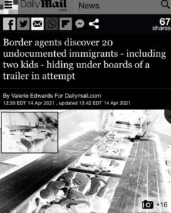 Read more about the article •Texas border agents discovered 20 undocumented immigrants, including two childr