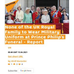 Read more about the article No military uniforms for the royals this time?