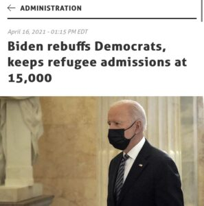 """Read more about the article Is that right?   """"President Biden on Friday signed an order speeding refugee adm"""