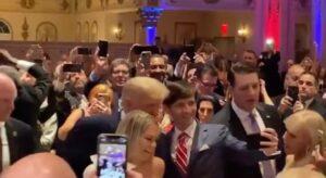 Trump tonight at Mar-a-Lago.
