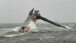 Read more about the article Coast Guard Dive Team Reaches Capsized Ship Off Louisiana; 1 Dead, 12 Missing