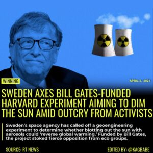 Sweden's space agency has called off a geoengineering experiment to determine wh