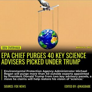 Environmental Protection Agency Administrator Michael Regan will purge more than