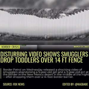 Border Patrol on Wednesday released a shocking video of smugglers abandoning a 5