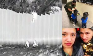 Ecuadorean migrant sisters, aged 3 and 5, who were dumped over U.S.-Mexico borde