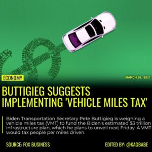 Read more about the article Biden Transportation Secretary Pete Buttigieg is weighing a vehicle miles tax (V