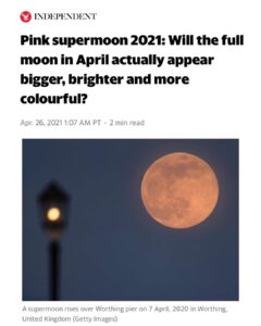 Read more about the article Tonight's PINK Supermoon.