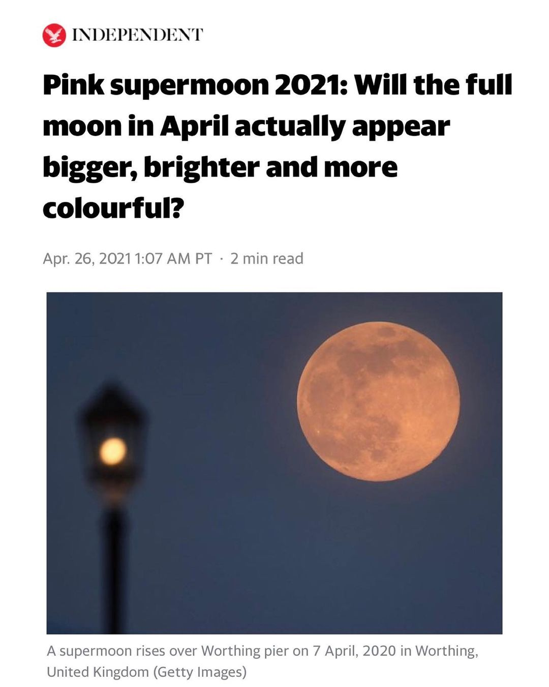 You are currently viewing Tonight's PINK Supermoon.