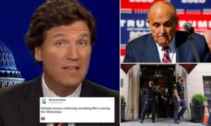 Read more about the article Tucker Carlson brands Joe Biden a tyrant over Rudy Giuliani raid