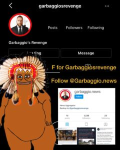 Read more about the article HUGE F FOR GARBAGGIO  POOMP HIS BACKUP   Follow