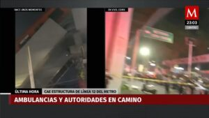 Read more about the article DEVELOPING: Overhead rail track for Mexico City's metro collapses with train car