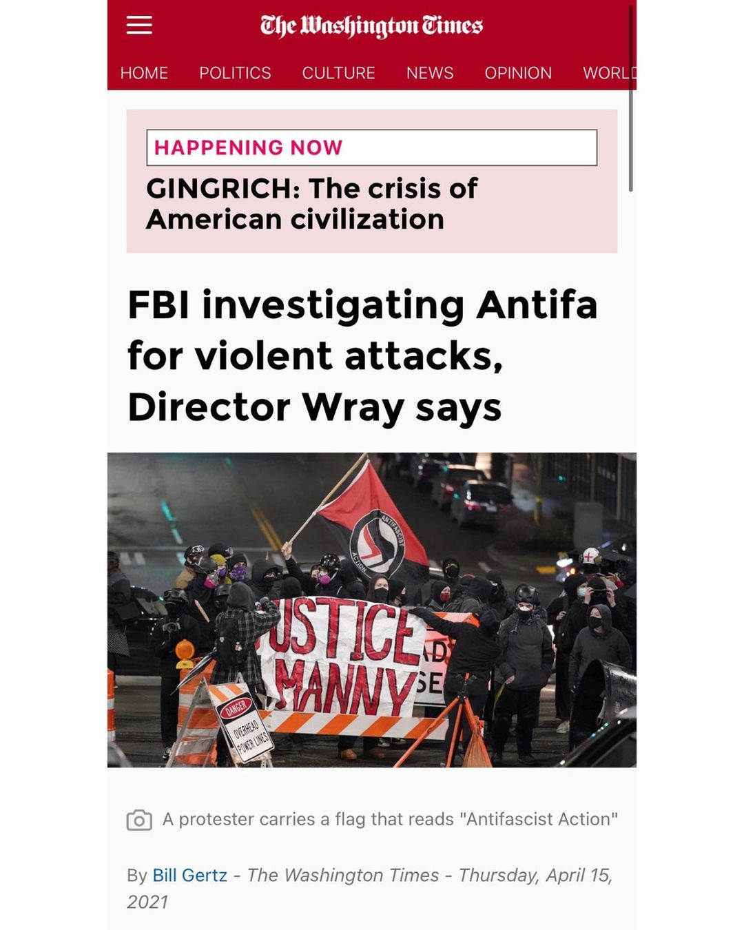 You are currently viewing I thought antifa was an idea Christopher?
