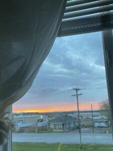 Beautiful sunset tonight after the storm. Symbolic.