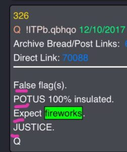 """Read more about the article 2. False POTUS expect fireworks… """"The war is real the news is fake."""""""