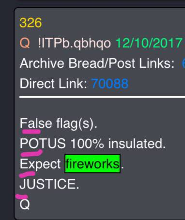 """You are currently viewing 2. False POTUS expect fireworks… """"The war is real the news is fake."""""""