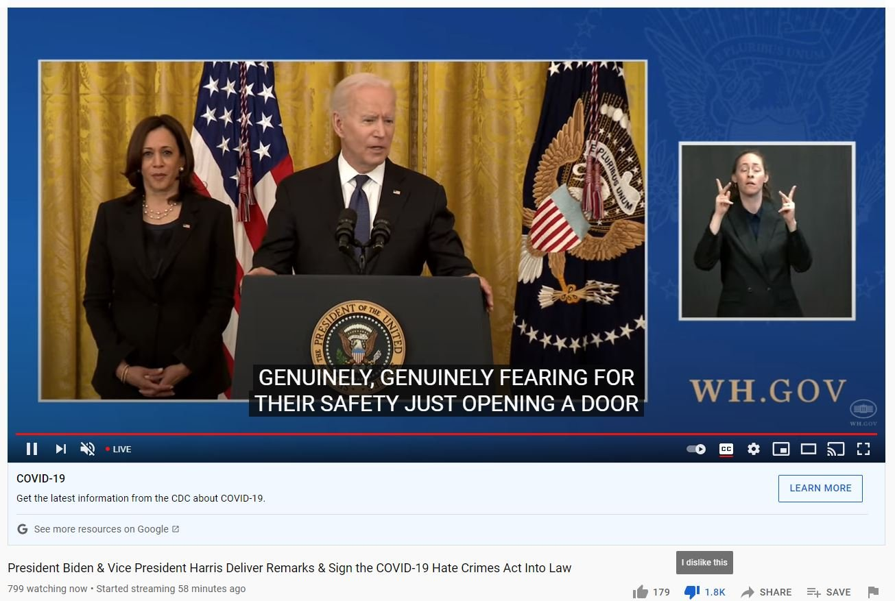 You are currently viewing Biden and Security Guard Kamala Hold Press Conference — Only 799 Tune In — But Don't Forget, Joe Got 81 Million Votes!