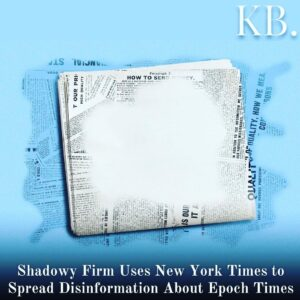 Read more about the article The New York Times on March 9, 2021, published an article containing incorrect i