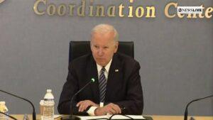 President Biden mumbles incoherently at FEMA headquarters
