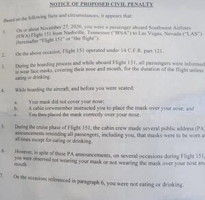 .@SouthwestAir is charging a 15 year old boy $1000 violation for not wearing a m