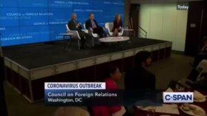 """Fauci at the CFR:  """"So, there was a phase early on where the people who I knew –"""