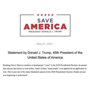 Trump statement: