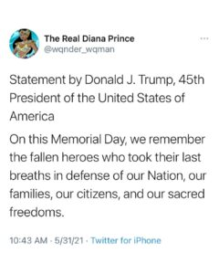 Read more about the article HAPPY MEMORIAL DAY! A message from Trump.  Sorry I've been MIA; will be back to