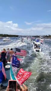 NOW – Trump boat parade in Jupiter, Florida, underway.