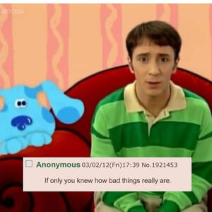 Read more about the article Never forget they want our children  – FBI Known Pedo Symbol in Blues Clues >> @sh33pn0m0r3