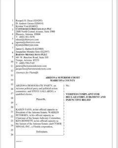 Read the complaint regarding the pause of the AZ Audit.