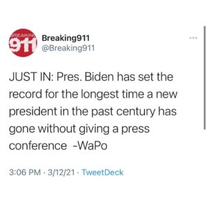 Read more about the article Gee I wonder why. Maybe cause he's not the real POTUS