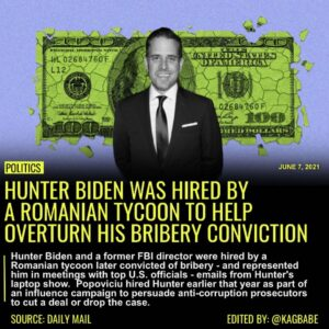 Read more about the article Hunter Biden and a former FBI director were hired by a Romanian tycoon later con
