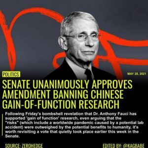 Read more about the article Following Friday's bombshell revelation that Dr. Anthony Fauci has supported 'ga
