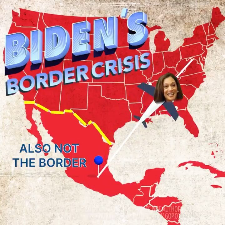 Kamala Harris flew right past the border, where the crisis is ongoing.  Arrests