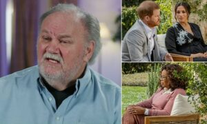 Read more about the article Thomas Markle accuses Oprah Winfrey of 'playing Harry and Meghan to build her ne