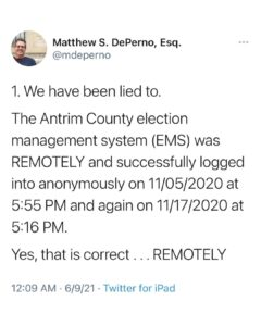 An update in Michigan: You cannot stop the TRUTH.   Slides 1-4
