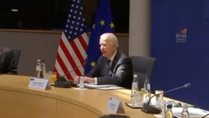 The US/EU Summit. Joey's lost in His notes