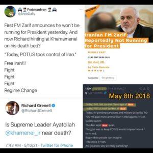 Hory shid   FM Zarif yesterday announces he's not running for President, and now