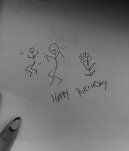 Birthday instructions in my story